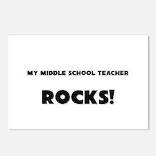MY Middle School Teacher ROCKS! Postcards (Package