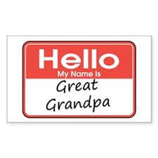 Hello, My name is Great Grandpa Decal
