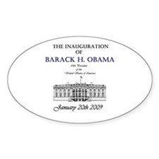 Obama Inauguration Oval Decal