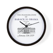 Obama Inauguration Wall Clock