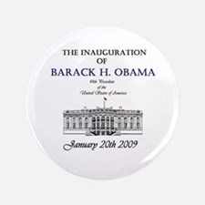"Obama Inauguration 3.5"" Button"
