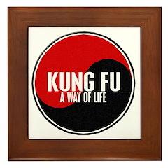 KUNG FU Way Of Life Yin Yang Framed Tile