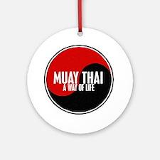 MUAY THAI Way Of Life Yin Yang Ornament (Round)