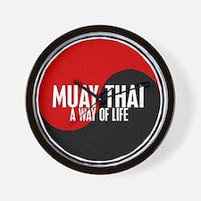 MUAY THAI Way Of Life Yin Yang Wall Clock