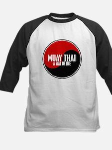MUAY THAI Way Of Life Yin Yang Kids Baseball Jerse