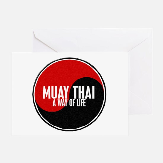 MUAY THAI Way Of Life Yin Yang Greeting Card