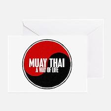 MUAY THAI Way Of Life Yin Yang Greeting Cards (Pk
