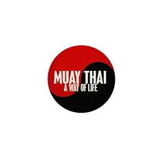 MUAY THAI Way Of Life Yin Yang Mini Button (100 pa