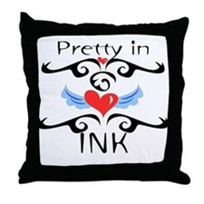 Pretty in INK Throw Pillow