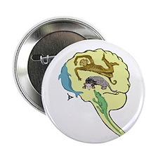 "Evolved Brain-b 2.25"" Button"