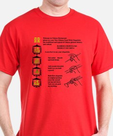 """Funny Chopstick Wrapper"" T-Shirt"