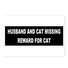 Husband & Cat Missing... Postcards (Package of 8)