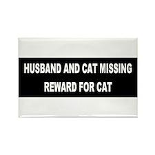Husband & Cat Missing... Rectangle Magnet