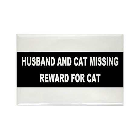 Husband & Cat Missing... Rectangle Magnet (100 pac