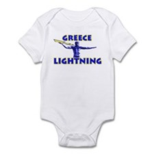 """Greece Lightning"" Infant Bodysuit"