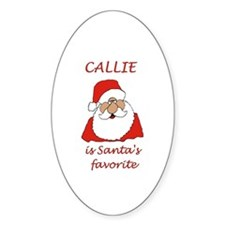 Callie Christmas Oval Decal
