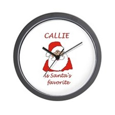 Callie Christmas Wall Clock