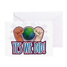 Funny Yes we did Greeting Card