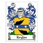 Krylov Family Crest Small Poster