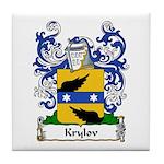 Krylov Family Crest Tile Coaster