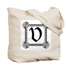 "Medieval British design Tote Bag ""V"""