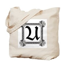 "Medieval British design Tote Bag ""U"""