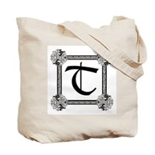 "Medieval British design Tote Bag ""T"""