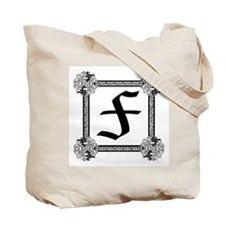 "Medieval British design Tote Bag ""F"""