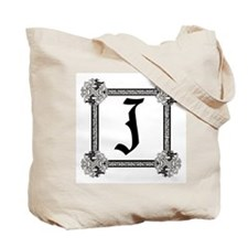 "Medieval British design Tote Bag ""J"""