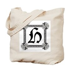 "Medieval British design Tote Bag ""H"""