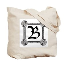 "Medieval British design Tote Bag ""B"""