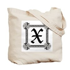 "Medieval British design Tote Bag ""X"""