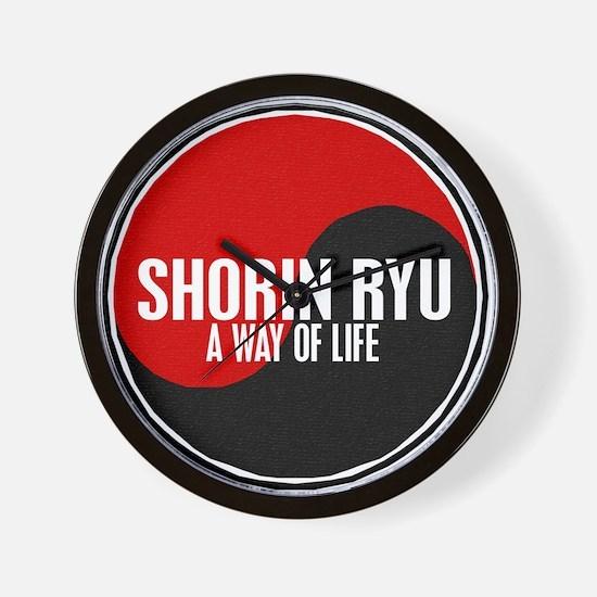 SHORIN RYU Way Of Life Yin Yang Wall Clock