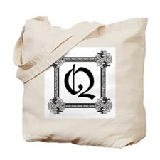 "Medieval British design Tote Bag ""Q"""