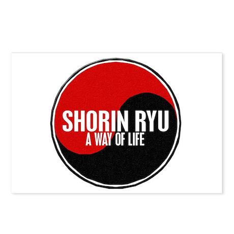 SHORIN RYU Way Of Life Yin Yang Postcards (Package