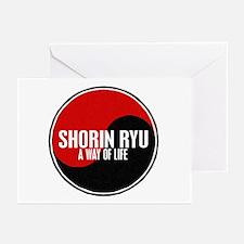 SHORIN RYU Way Of Life Yin Yang Greeting Cards (Pk