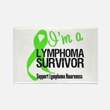 I'm a Lymphoma Survivor v2 Rectangle Magnet
