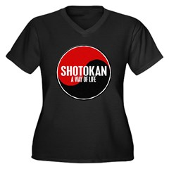 SHOTOKAN Way Of Life Yin Yang Women's Plus Size V-