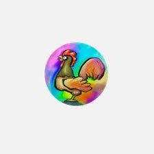 Rooster Mini Button