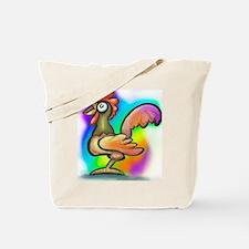 Cute Cock walk Tote Bag