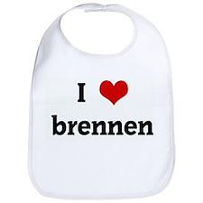 I Love brennen Bib