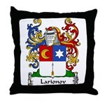 Larionov Family Crest Throw Pillow