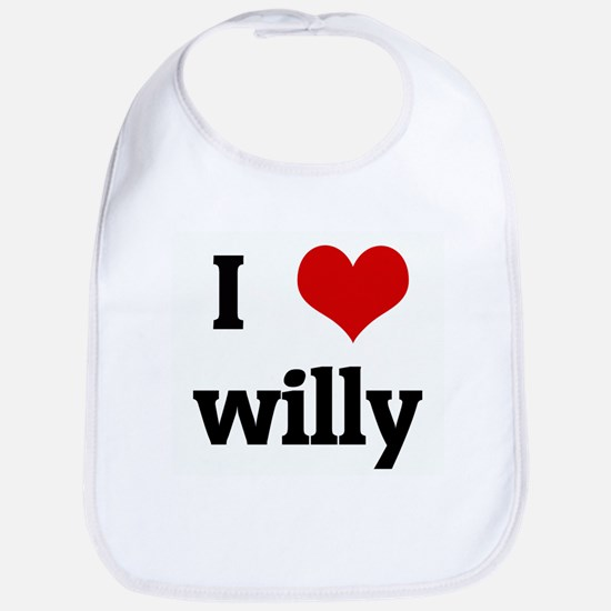 I Love willy Bib
