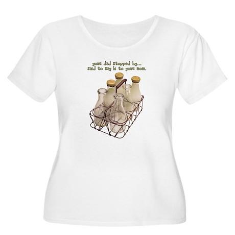 The Milkman Women's Plus Size Scoop Neck T-Shirt