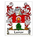 Lavrov Family Crest Small Poster