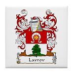 Lavrov Family Crest Tile Coaster