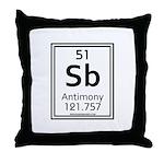 Antimony Throw Pillow