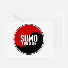SUMO Way Of Life Yin Yang Greeting Card