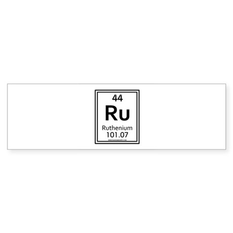 Ruthenium Bumper Sticker