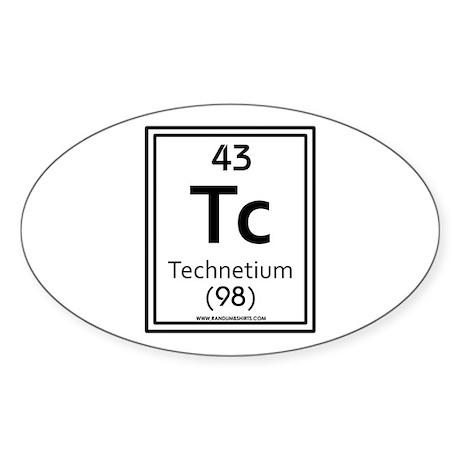 Technetium Oval Sticker
